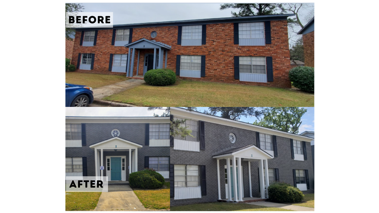 One of our Multifamily CapEX projects we just finished painting in Augusta, GA.