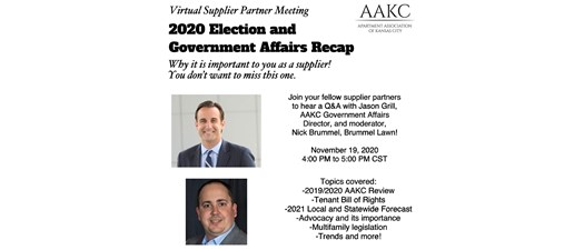 2020 Election & Government Affairs Recap (Virtual Supplier Partner Meeting)