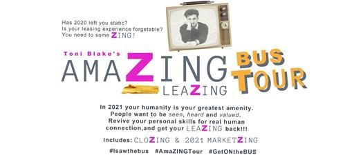 Toni Blake's AmaZing Bus Tour: LeaZing, CloZing & MarketZing & Keynote