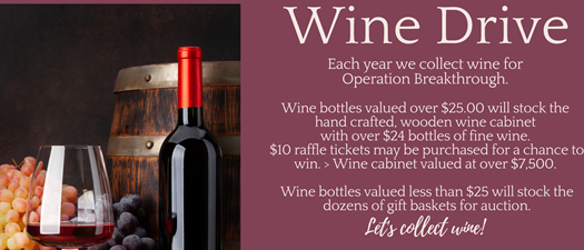 Operation Breakthrough's 23rd Annual Wine Drive Fundraiser