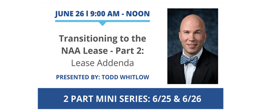 Transitioning to the NAA Lease - Part 2: Lease Addenda