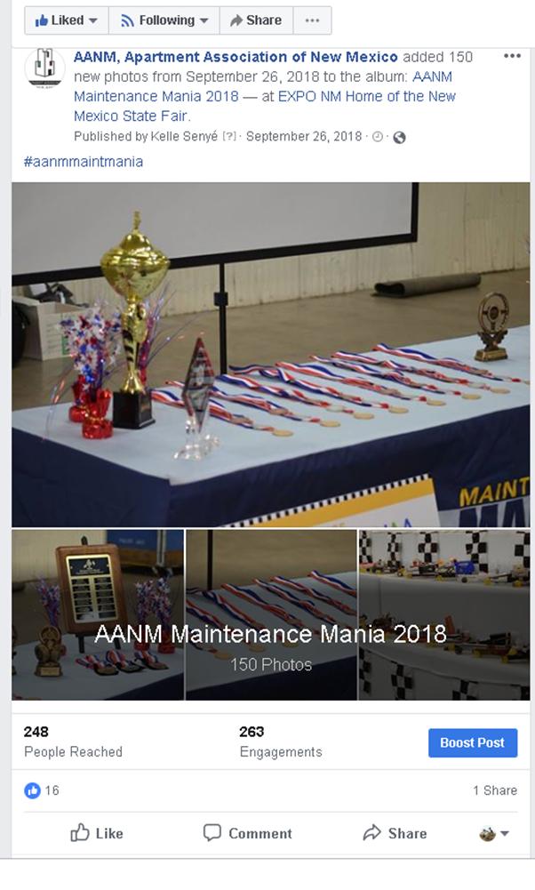 2018 AANM Maintenance Mania