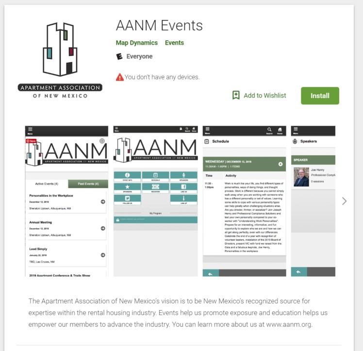Apartment Finding App: Apartment Association Of New Mexico