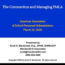 The Coronavirus Pandemic and the FMLA