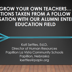 Grow Your Own Teachers. Actions Taken From Alumni Entering the Education Field