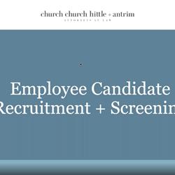 Employee Candidate Recruitment + Screening