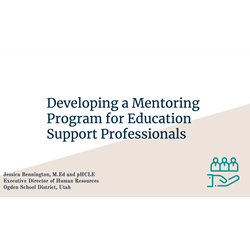 Developing a Mentoring Program for Education Support Professionals