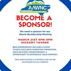 March Membership Meeting Sponsorship