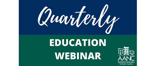AANC Webinar: NC Multifamily Legislative Review & Update