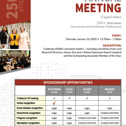 2020 Annual Meeting Silver Sponsorship