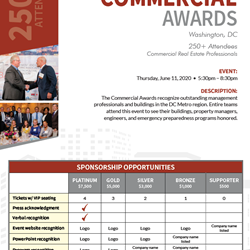 2020 Commercial Awards Gold Sponsorship