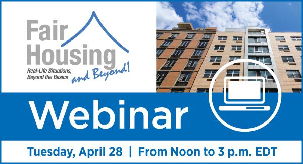 Fair Housing Webinar April 28