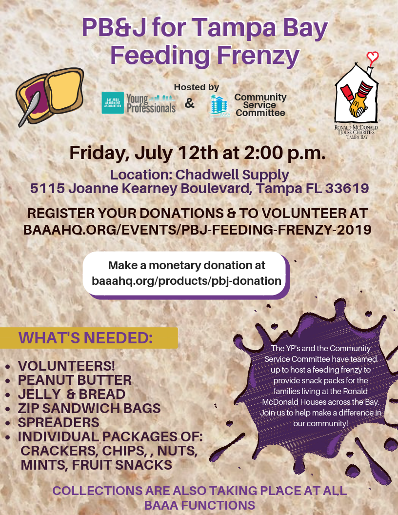 PB&J Feeding Frenzy - Bay Area Apartment Association