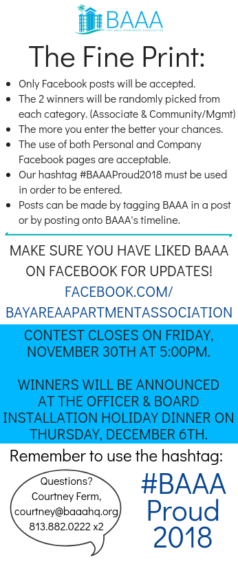 Social Media Member Decal Contest - Bay Area Apartment