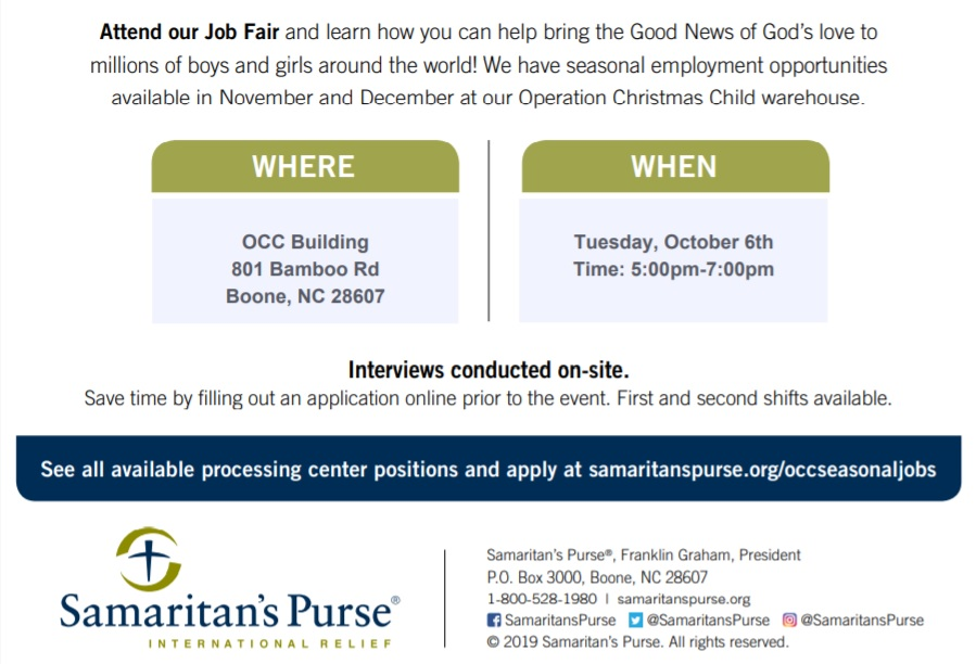Samaritan Purse Job Fair2