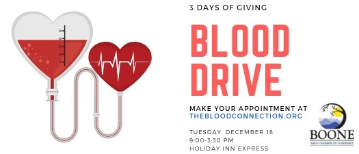 3 Days of Giving Blood Drive- Boone Chamber Day