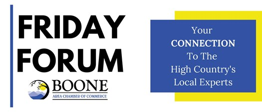 Friday Forum: Town of Boone & AppHealthCare Staff