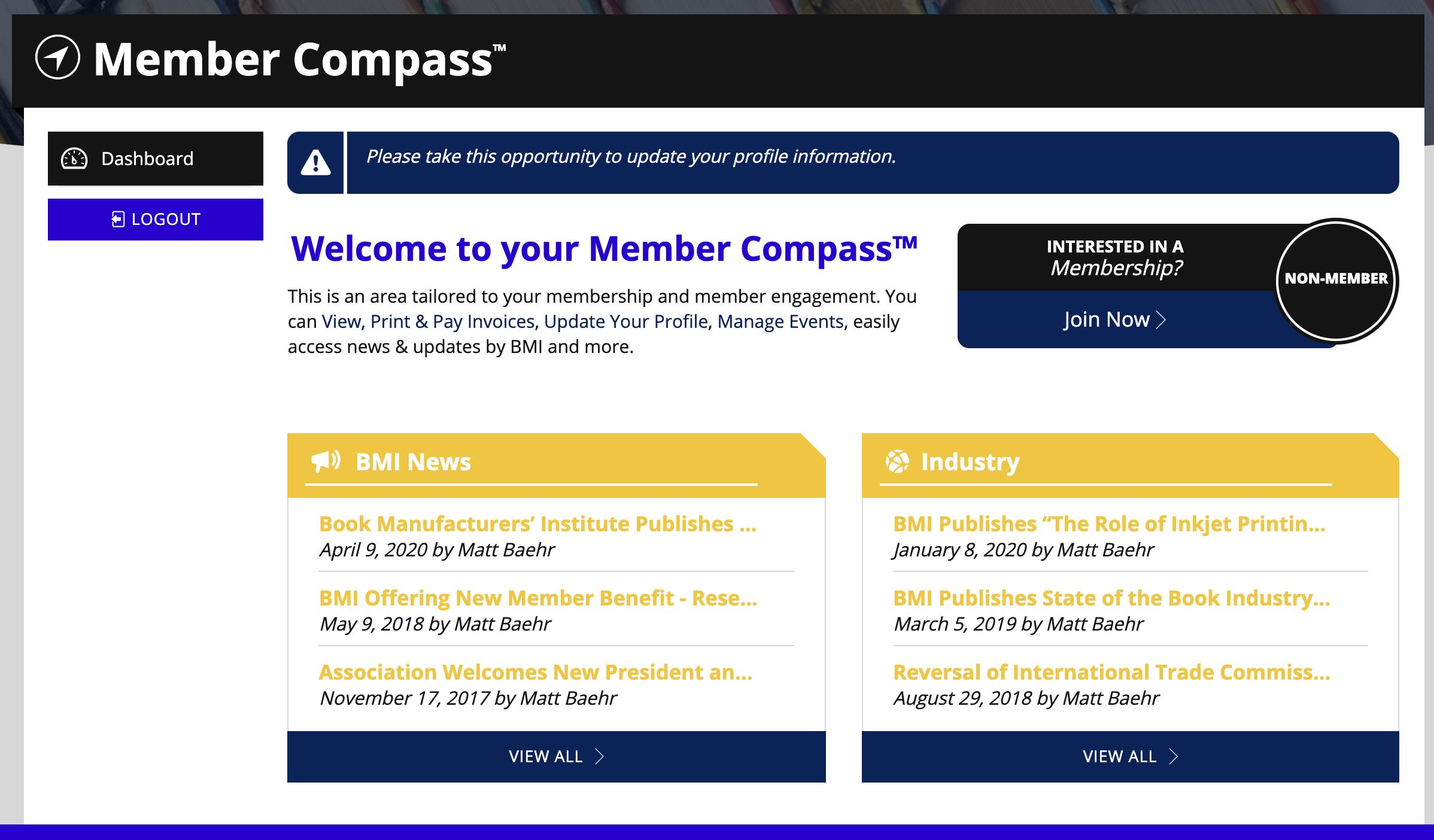 Book Manufacturers Institute Member Compass
