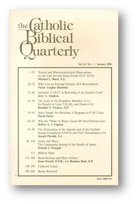 CBQ Instructions for Contributors - Catholic Biblical