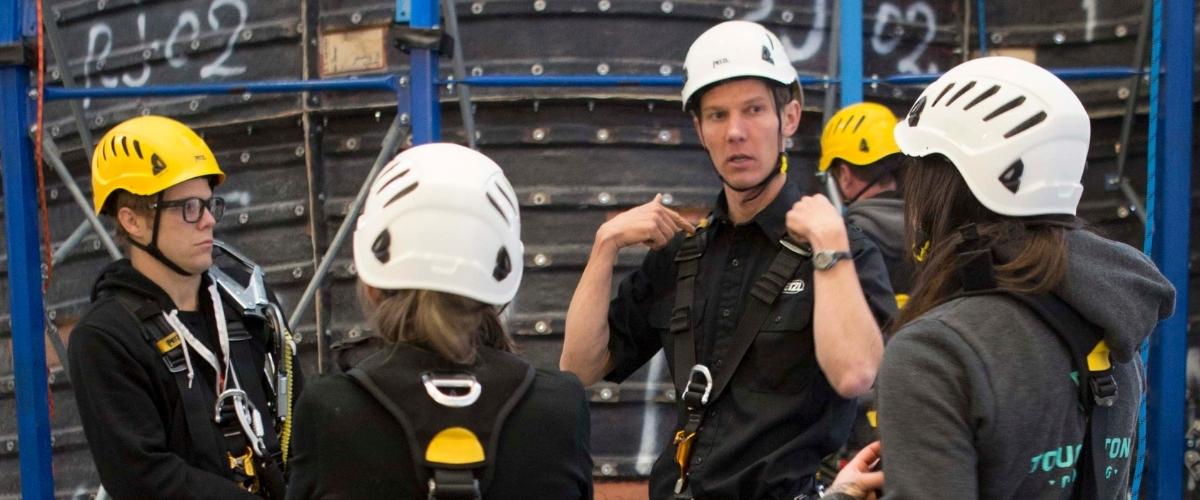 Indoor climbing professional training
