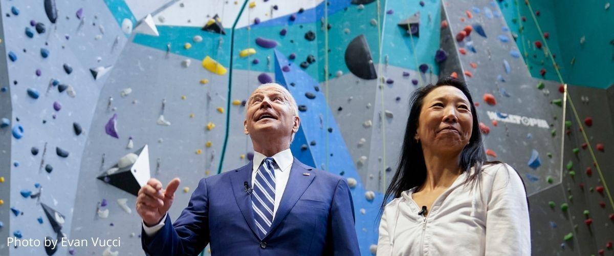 President Biden and Lillian Chao-Quinlan
