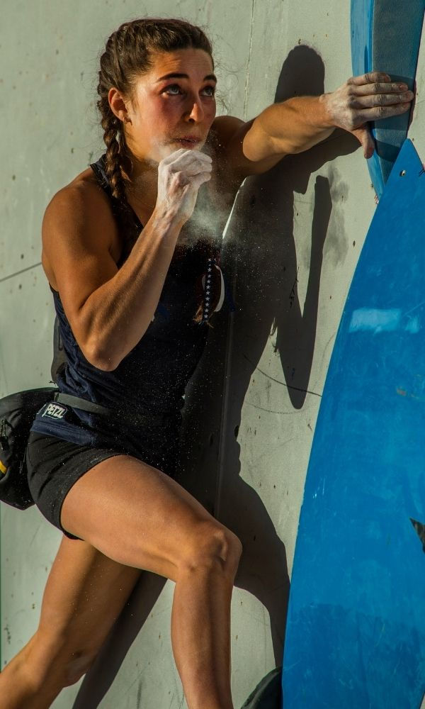 Brooke Raboutou competing in World Cup Climbing