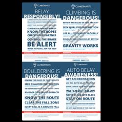 ClimbSmart! Poster Set (4 Posters) - Text Version, 11x17