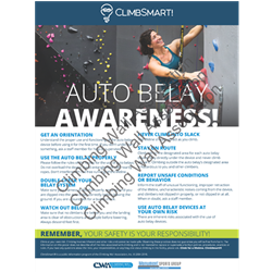ClimbSmart! Auto Belay Awareness Poster - Photo Version, 18x24