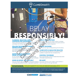 ClimbSmart! Belay Responsibly Poster - Photo Version, 18x24