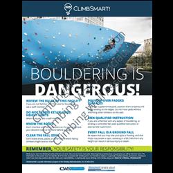 ClimbSmart! Bouldering Poster - Photo Version, 18x24
