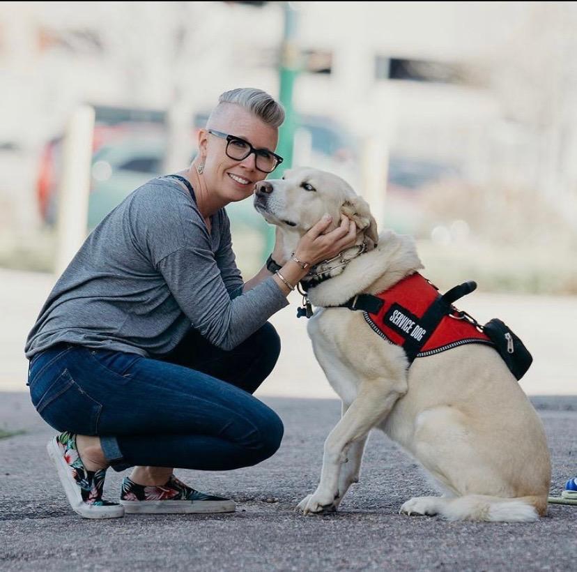 Paula Horwitz with her dog