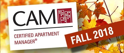 CAM (Certified Apartment Manager) - Fall 2018