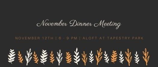 November Dinner Meeting 2020