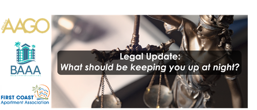 Legal Update - What should be keeping you up at night?