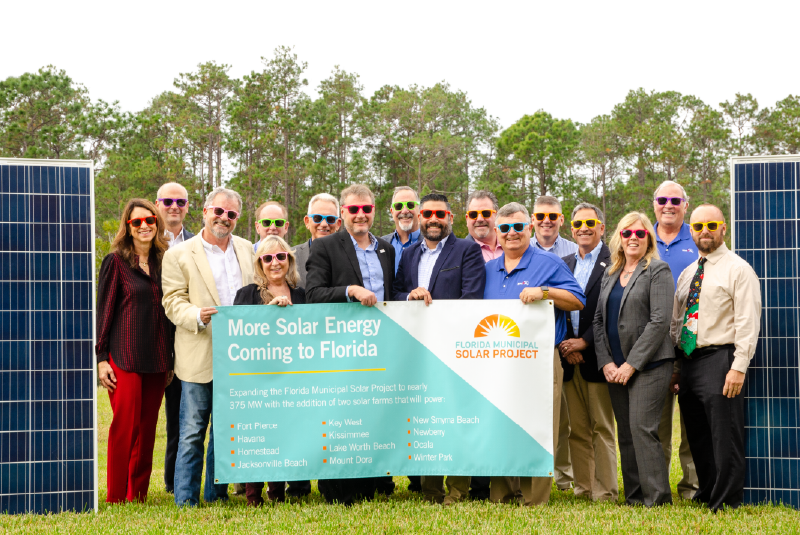 Florida Municipal Utilities Announce Second Solar Power