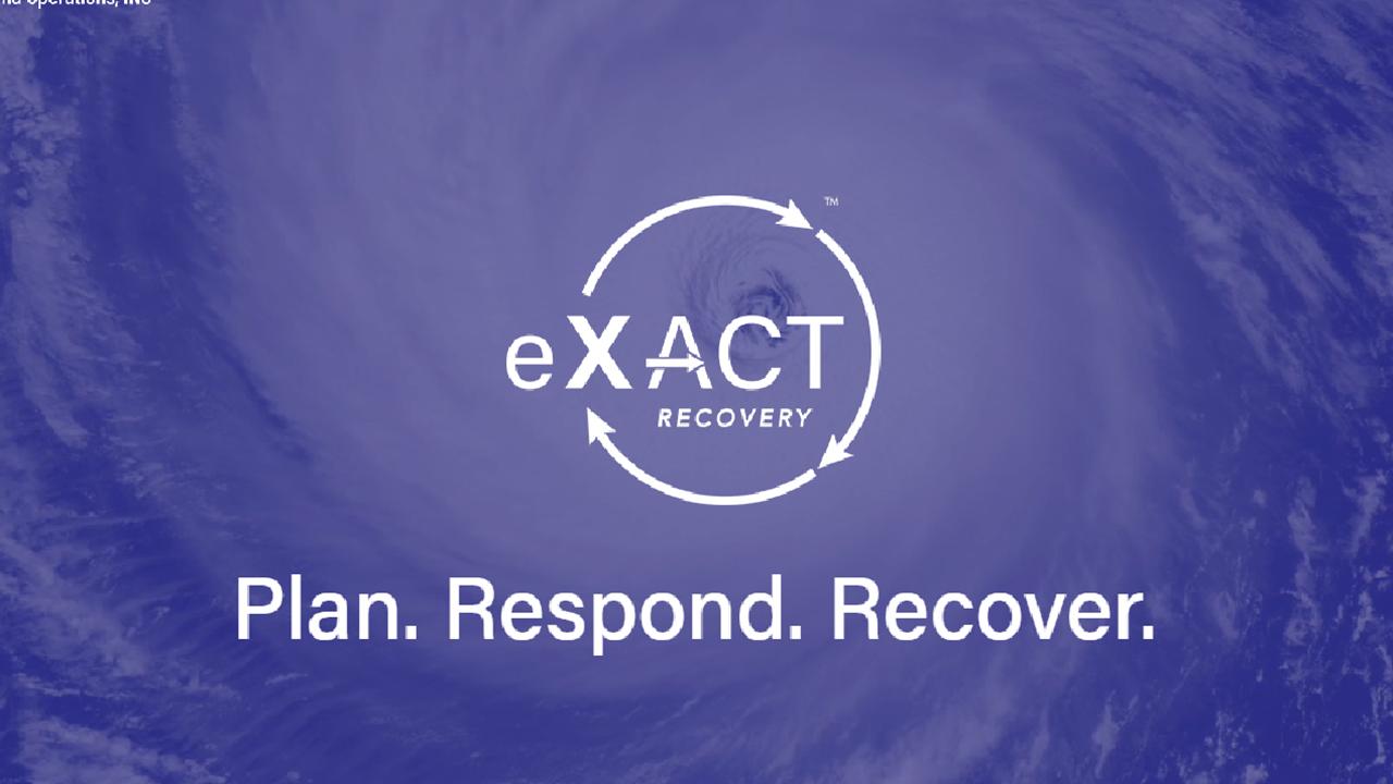 Plan. Respond. Recover.