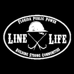 Florida Line Life Magnet - Black