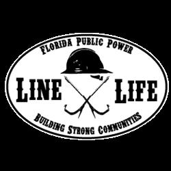 Florida Line Life Magnet - White