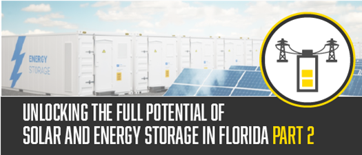 2021 - Unlocking the Full Potential of Solar and Energy Storage in Florida