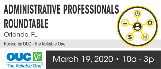 2020 Administrative Professionals Roundtable - Spring Meeting