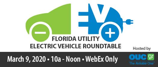 2020 Florida Utility Electric Vehicle Roundtable - WebEx Meeting