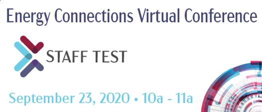 2020 Energy Connections virtual platform test #2