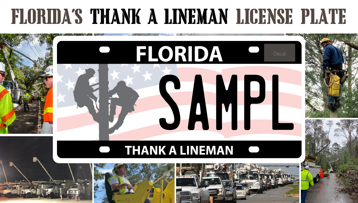 Florida Lineman Plate