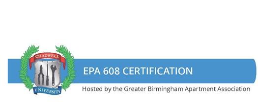 EPA 608 Certification: Thursday. February 3, 2022