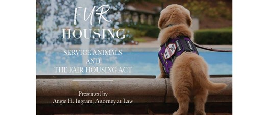 """Lunch and Learn """"Fur Housing"""" with Angie Ingram"""