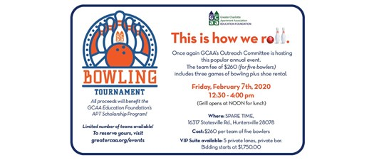 GCAA Annual Charity Bowling Tournament