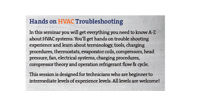 Hands-on HVAC Troubleshooting