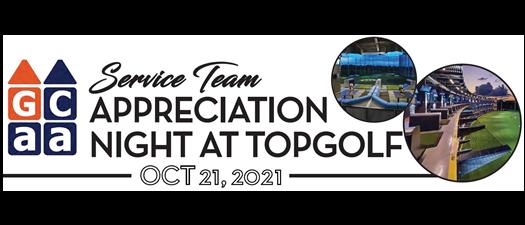 October General Meeting: Service Team Appreciation Night @ TopGolf