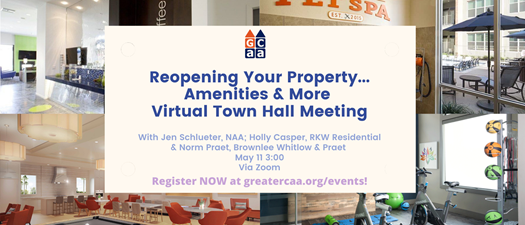 Reopening Your Property...Amenities & More Virtual Town Hall Meeting
