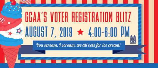 GCAA'S VOTER REGISTRATION BLITZ